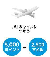 JALマイルに交換