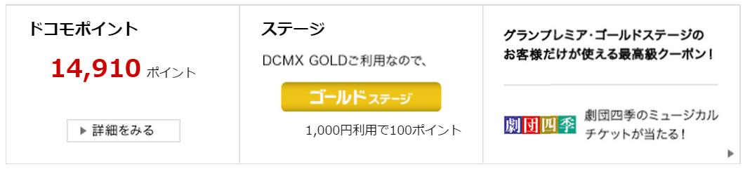 dカード GOLD審査通過画像